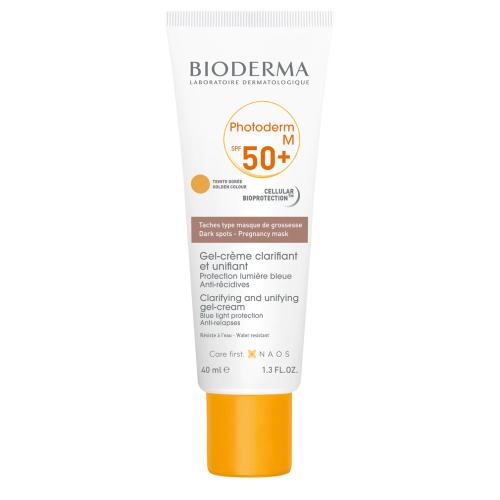 BIODERMA PHOTODERM M SPF50+ Слънцезащитен крем за лице, златист цвят 40мл.