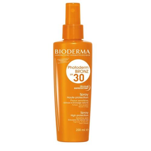 BIODERMA PHOTODERM BRONZ SPF30 Слънцезащитен спрей за чувствителна кожа 200мл.