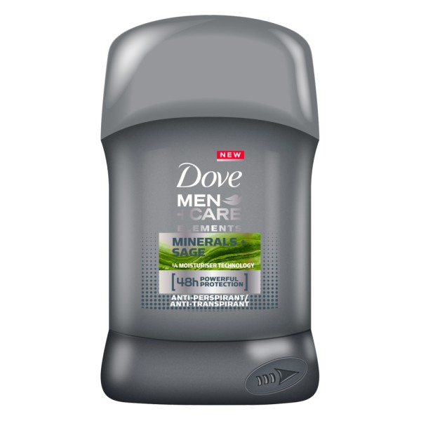 Стик дезодорант DOVE MEN+CARE SAGE & MINERALS 50мл.