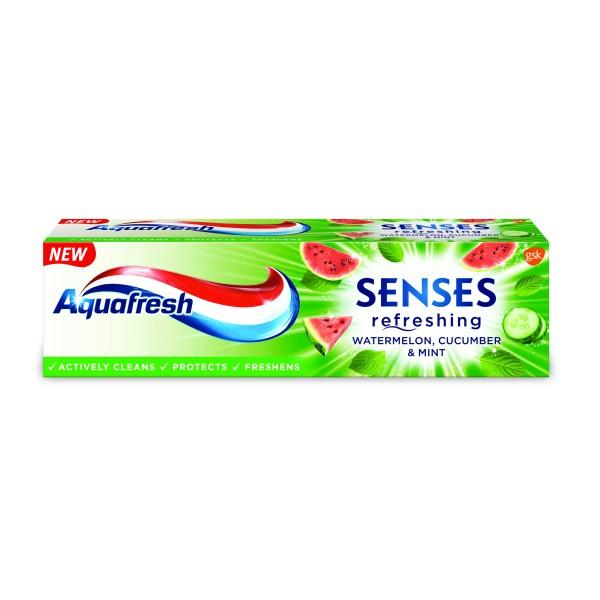 AQUAFRESH SENSES WATERMELON Паста за зъби 75мл.