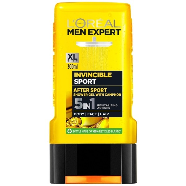 L`OREAL PARIS MEN EXPERT INVINCIBLE SPORT 5IN1 Мъжки душ-гел 5в1 300мл.