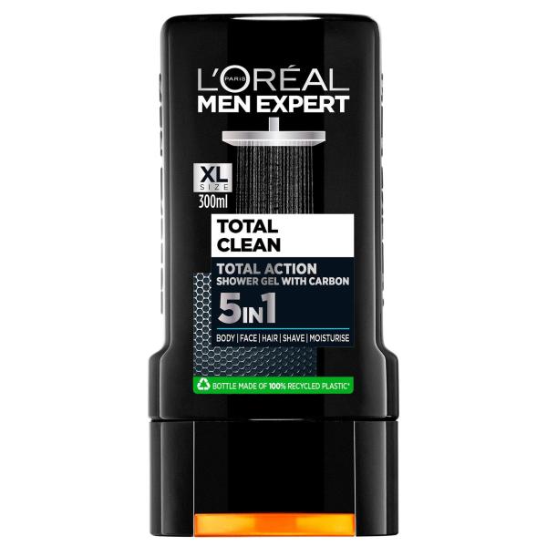 L`OREAL PARIS MEN EXPERT TOTAL CLEAN Мъжки душ-гел 300мл.