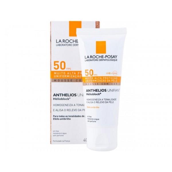 LA ROCHE-POSAY ANTHELIOS UNIFIANT SPF50 КРЕМ за лице,изравняване на тена 40 мл./розов нюанс/ 413117